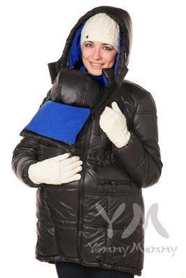 Y@mmy Mammy. Универсальная куртка 3 в 1 черный/ультрамарин,  флис