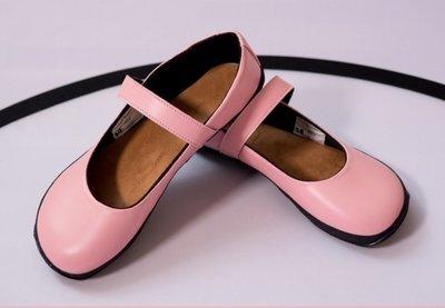 Ballerina roze - imitatie leer - maat 27, 30