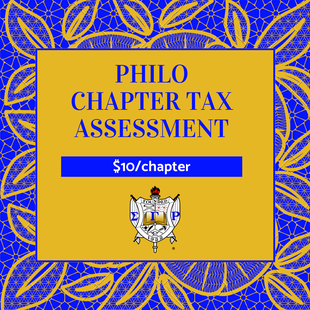 2018-2019 Philo Affiliate Chapter Tax Assessment