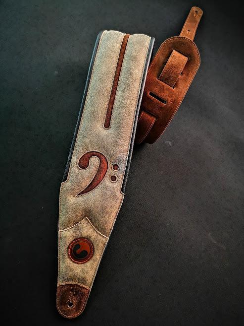 "Fa 4"" Crackle Brown (Padded, Genuine Leather) Fa401-wbr-dbrs"