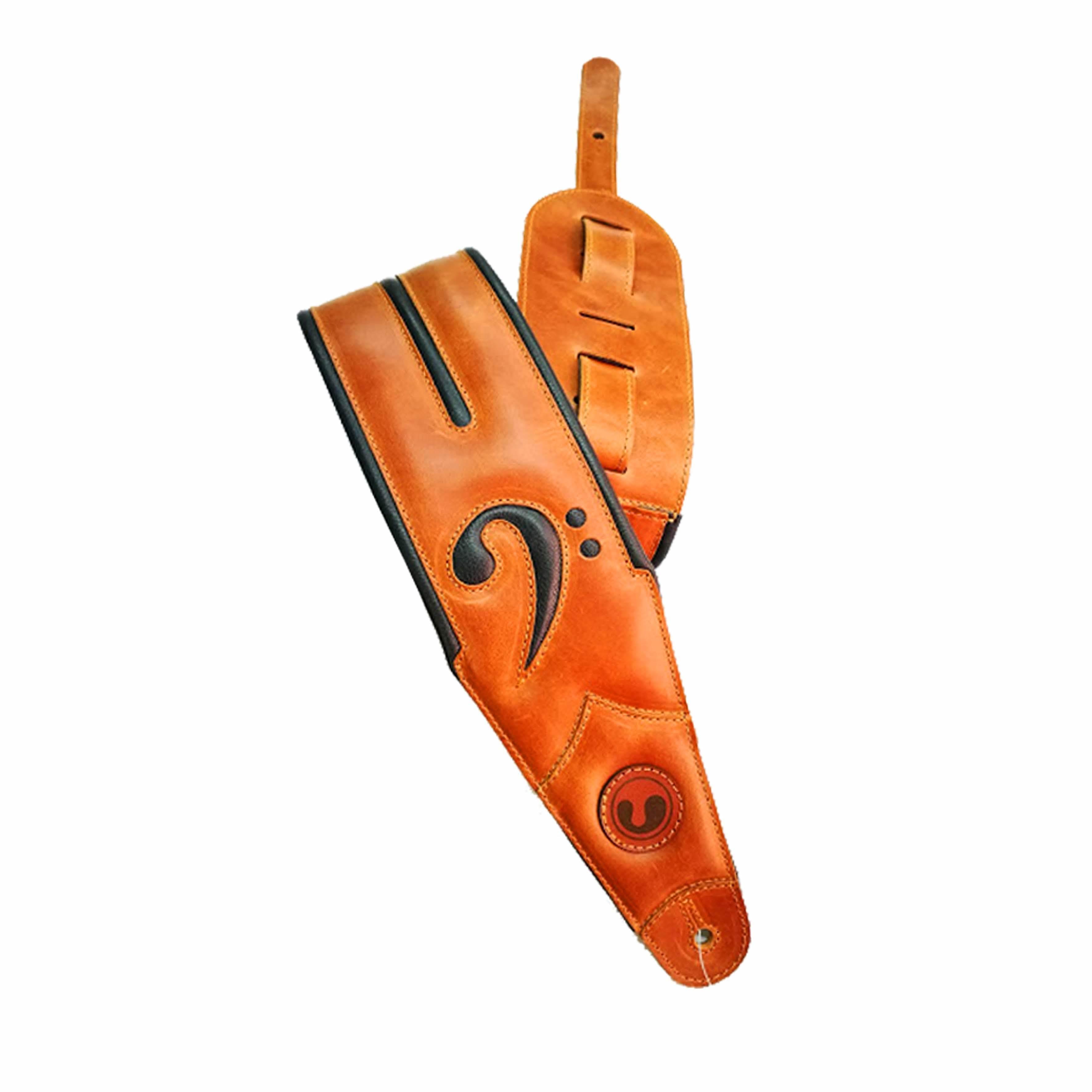 "FA 4"" Brown / Black  (Padded, Genuine Leather) FA401-BR-BK"