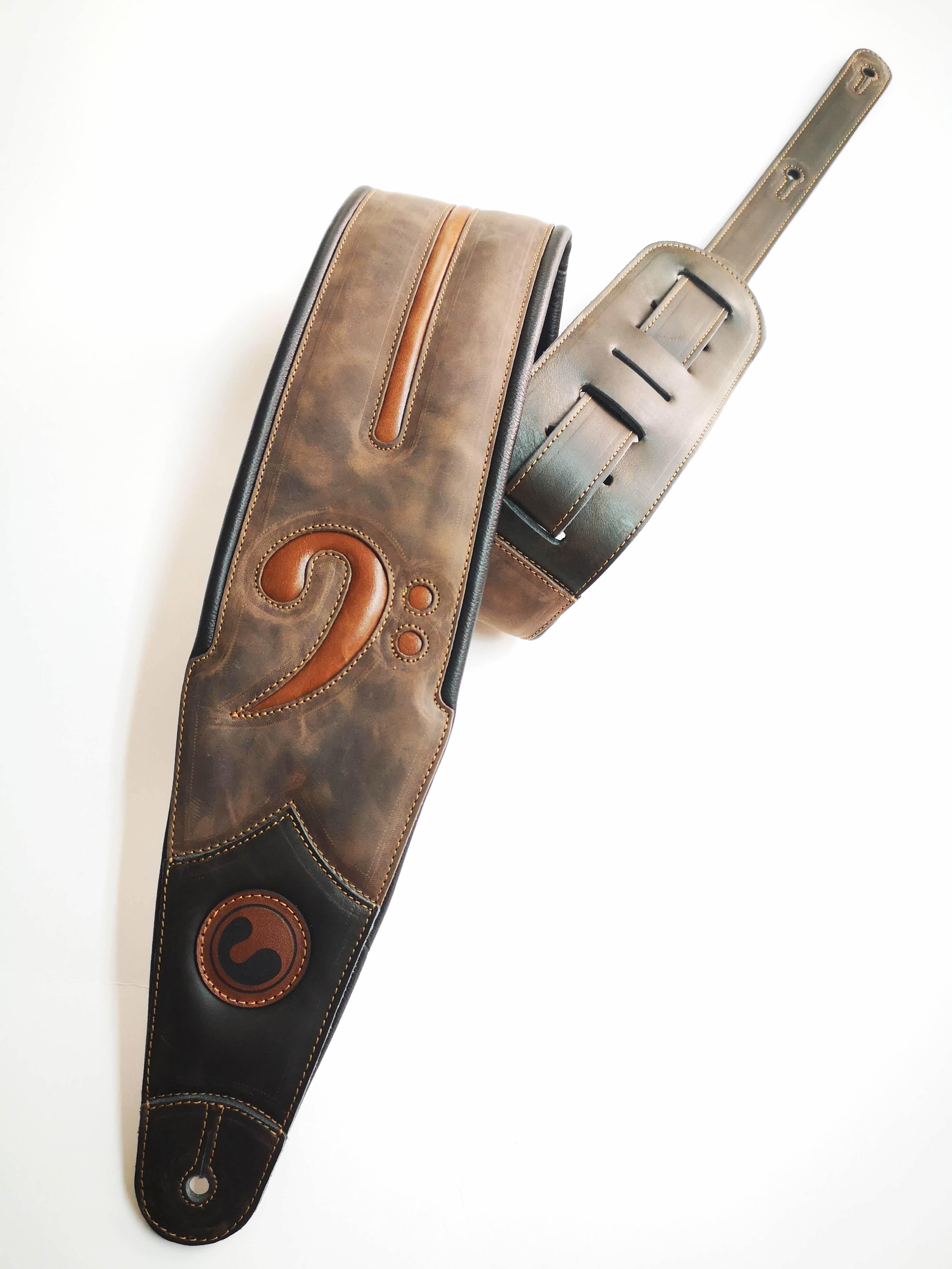 "FA 4"" Vintage Brown (Padded, Genuine Leather) FA401-VBR"
