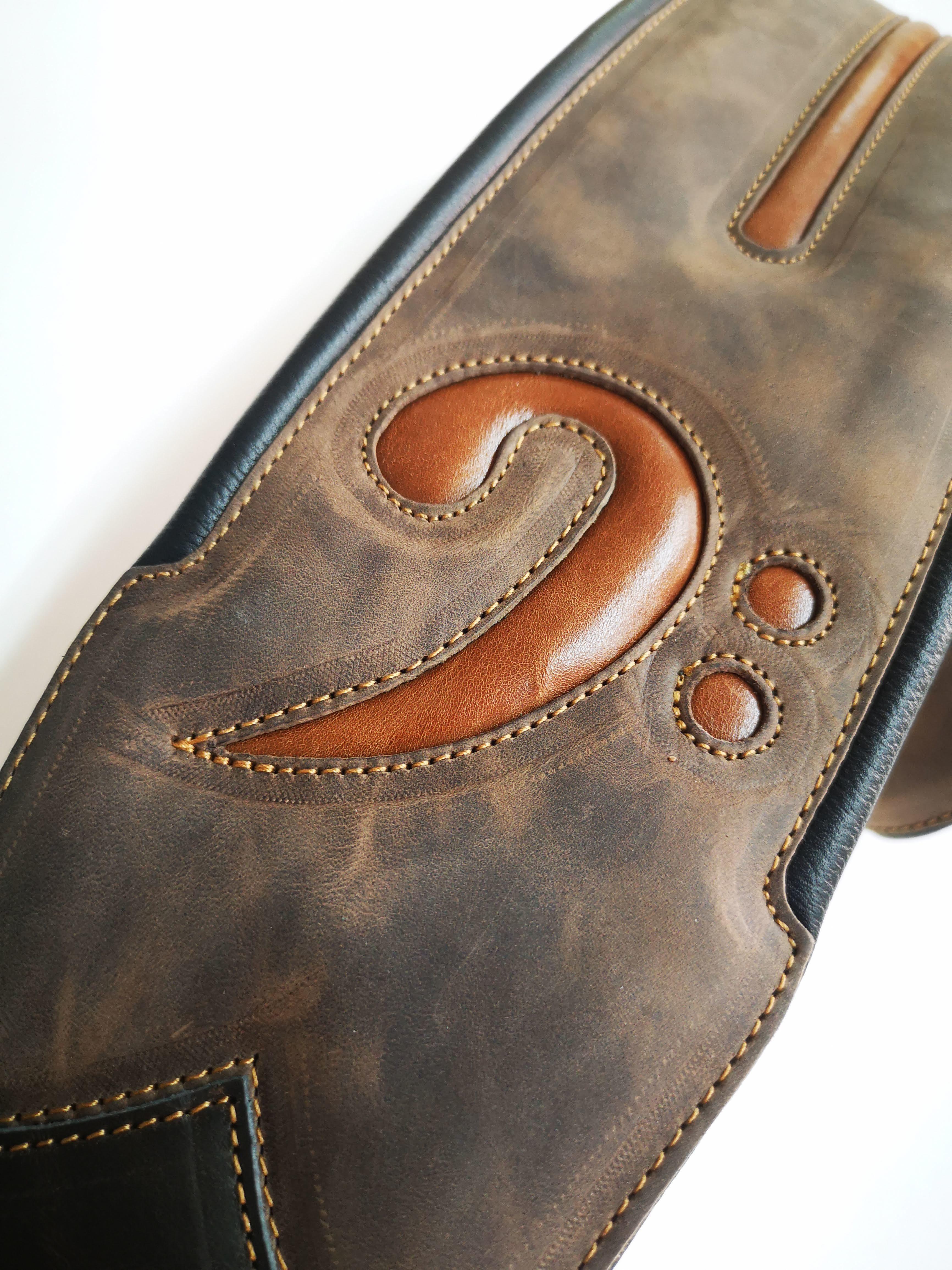 "FA 4"" Vintage Brown (Padded, Genuine Leather)"
