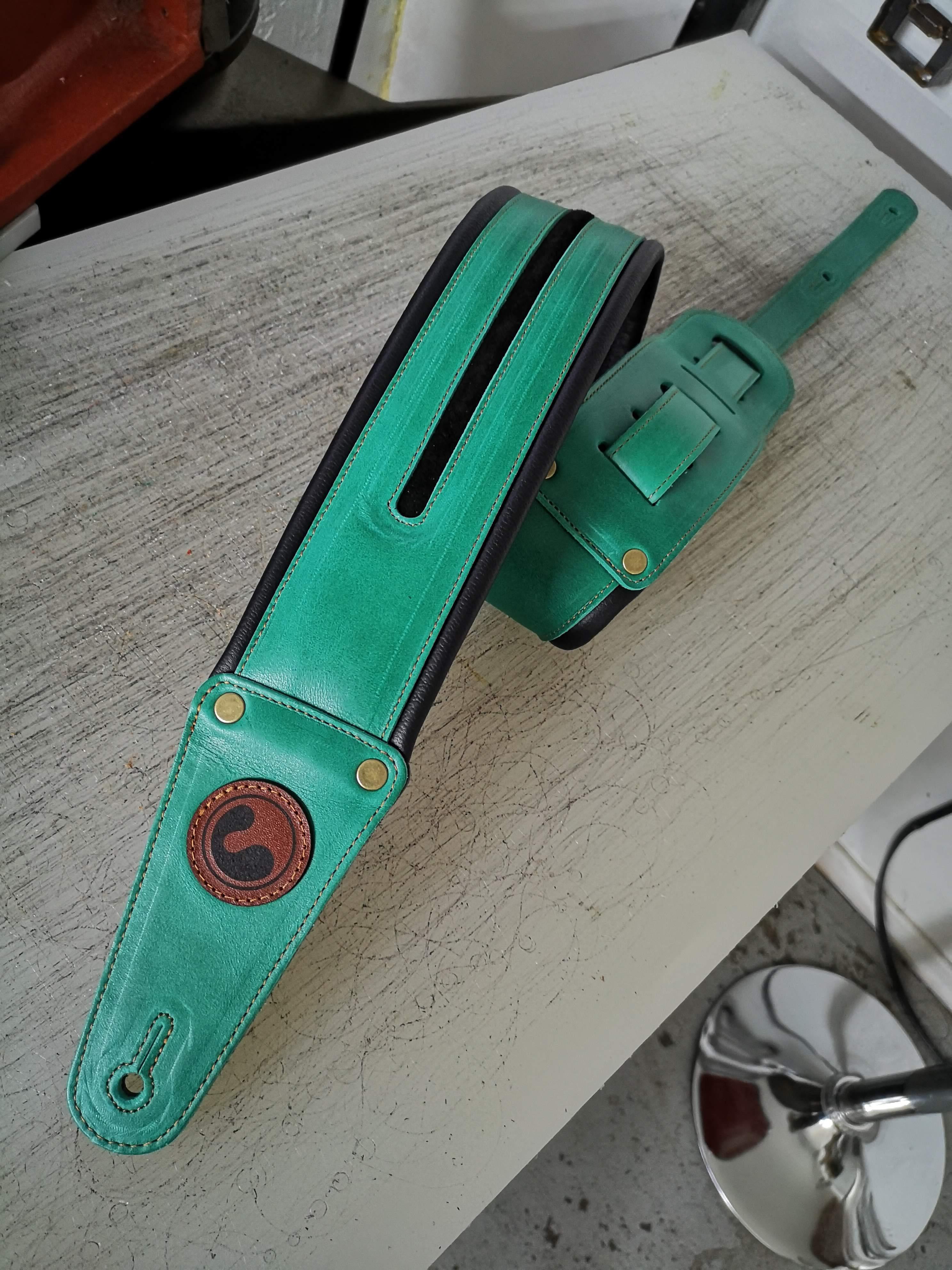 "NEO Seafoam Green 3""  (Padded, Genuine Leather) 00016"