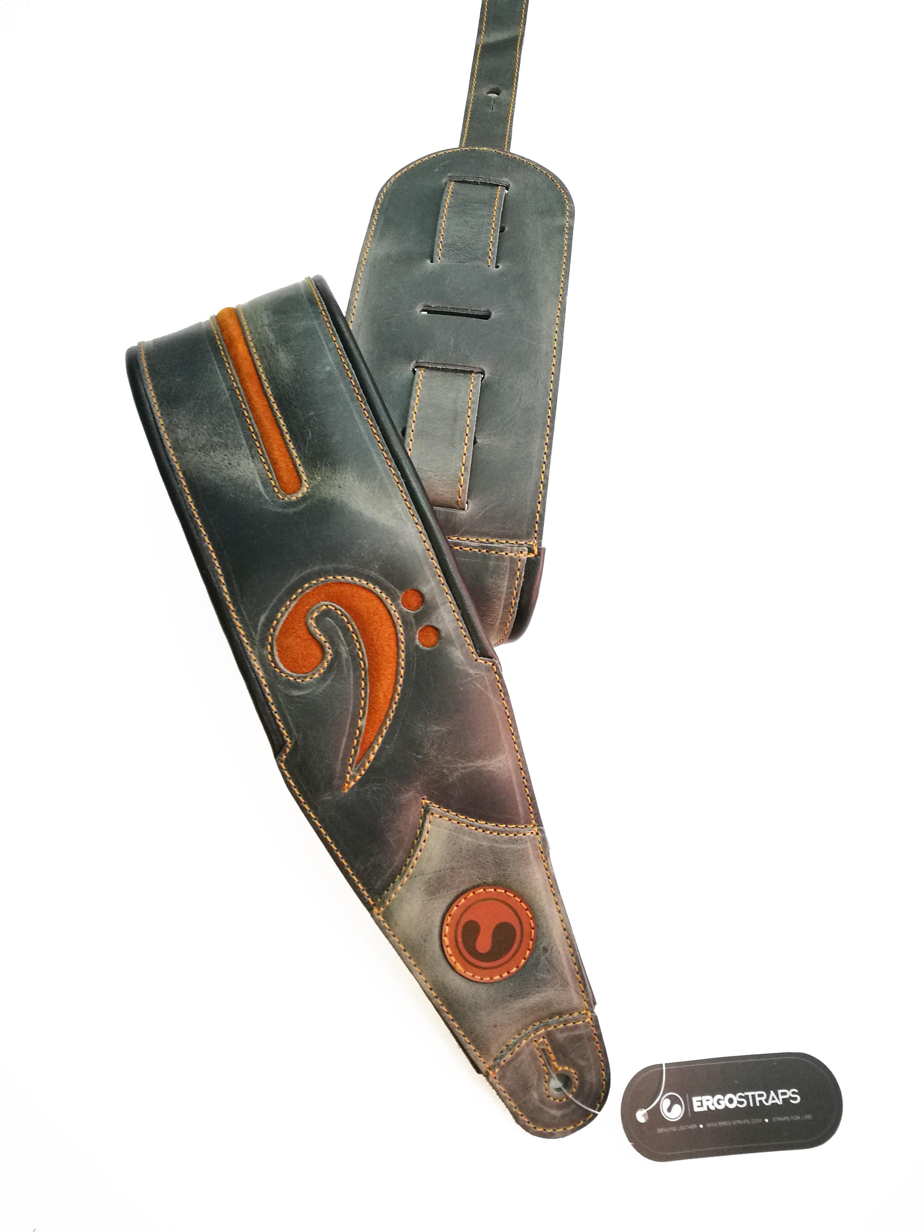 "FA 4""  Grey & Tobacco Suede (Padded, Genuine Leather) FA401-GY-BRS"