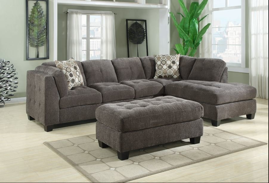 Drake Sectional Sofa with Storage Ottoman