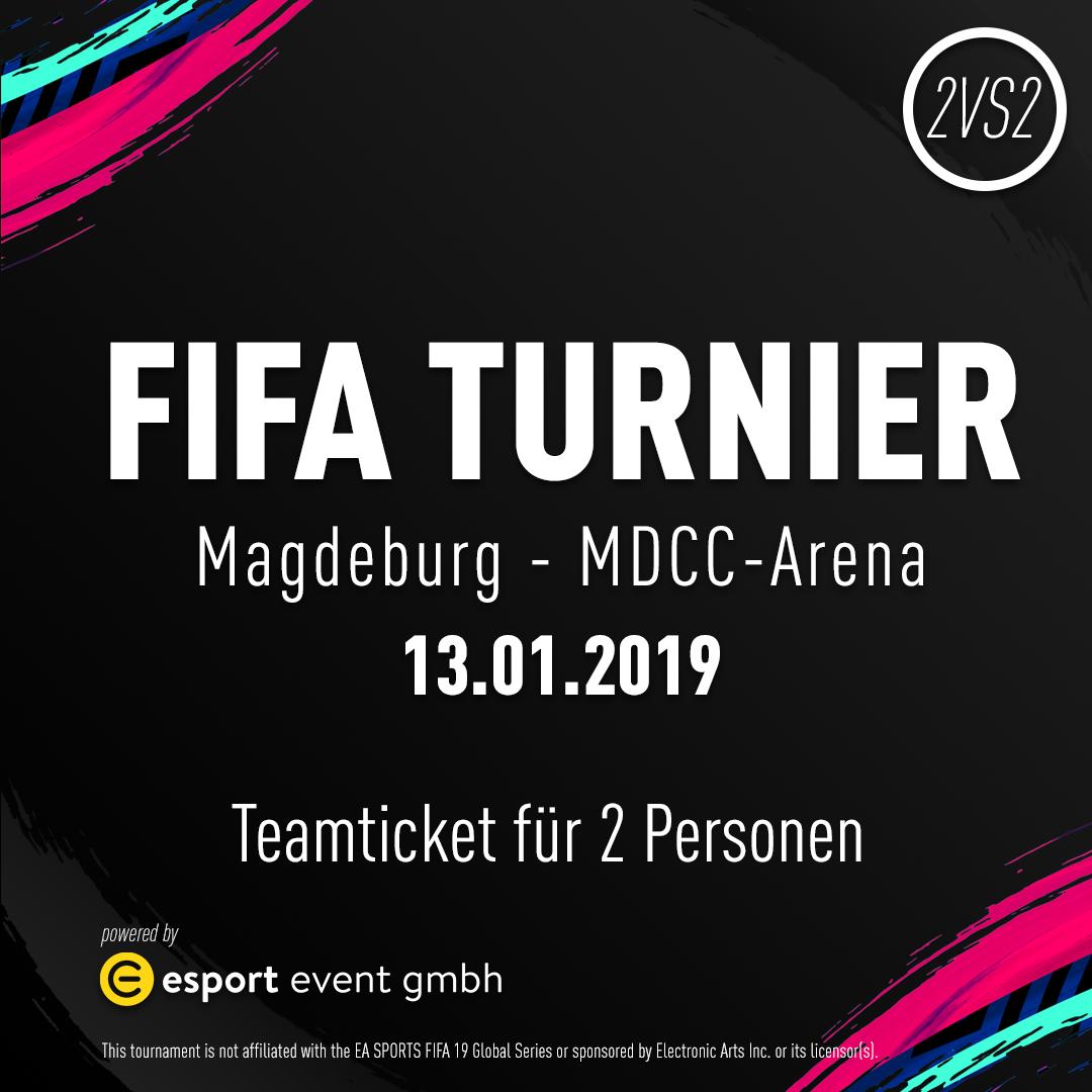 Teamticket für 2 Personen // 13.01.2019 // Magdeburg