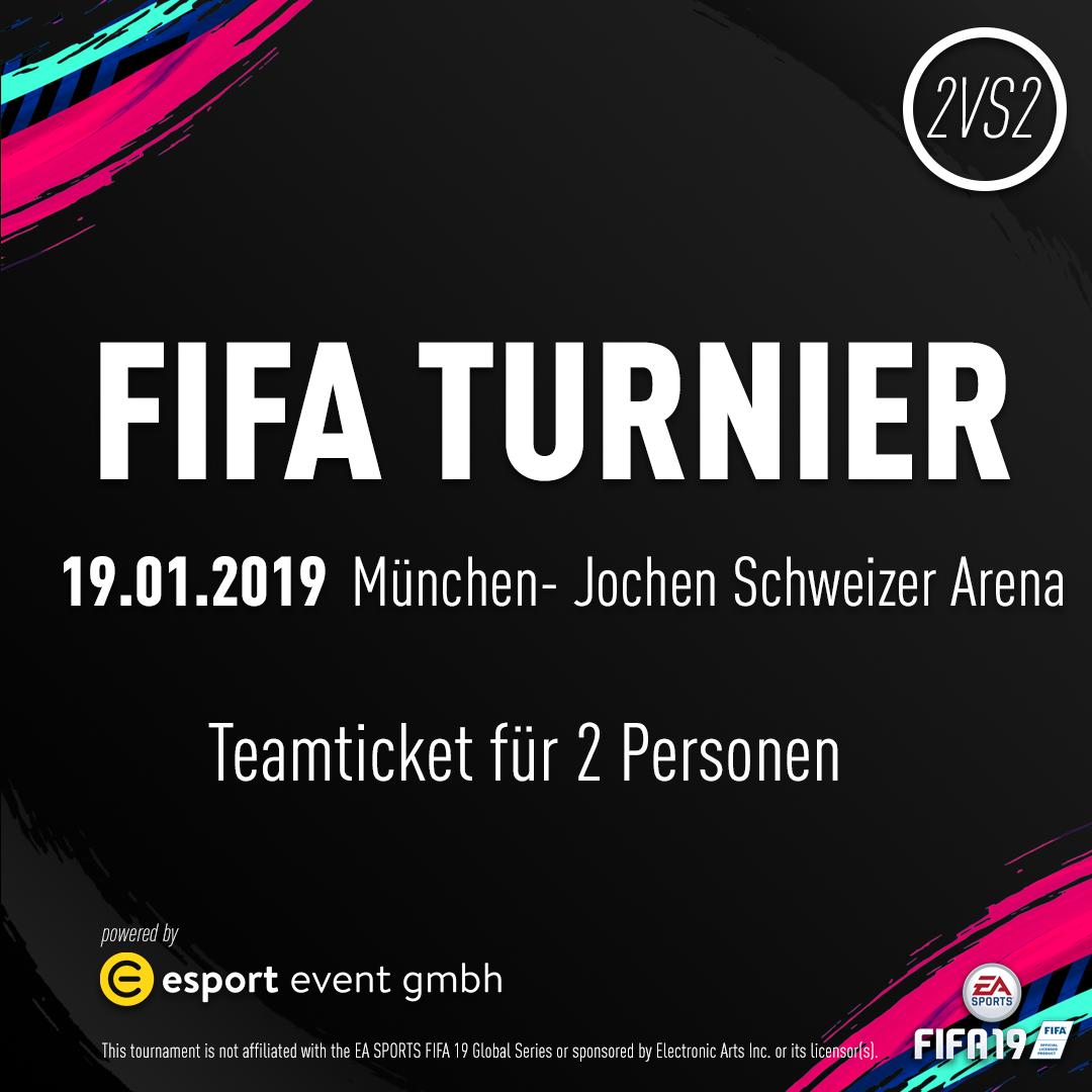 Teamticket für 2 Personen // 19.01.2019 // München