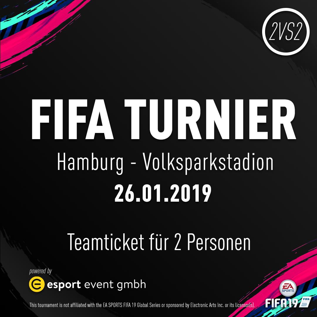 Teamticket für 2 Personen // 26.01.2019 // Hamburg