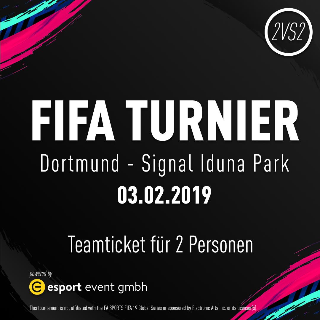 Teamticket für 2 Personen // 03.02.2019 // Dortmund