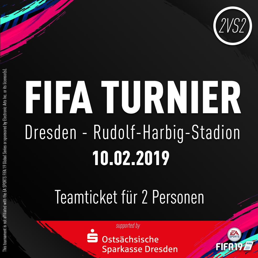 Teamticket für 2 Personen // 10.02.2019 // Dresden