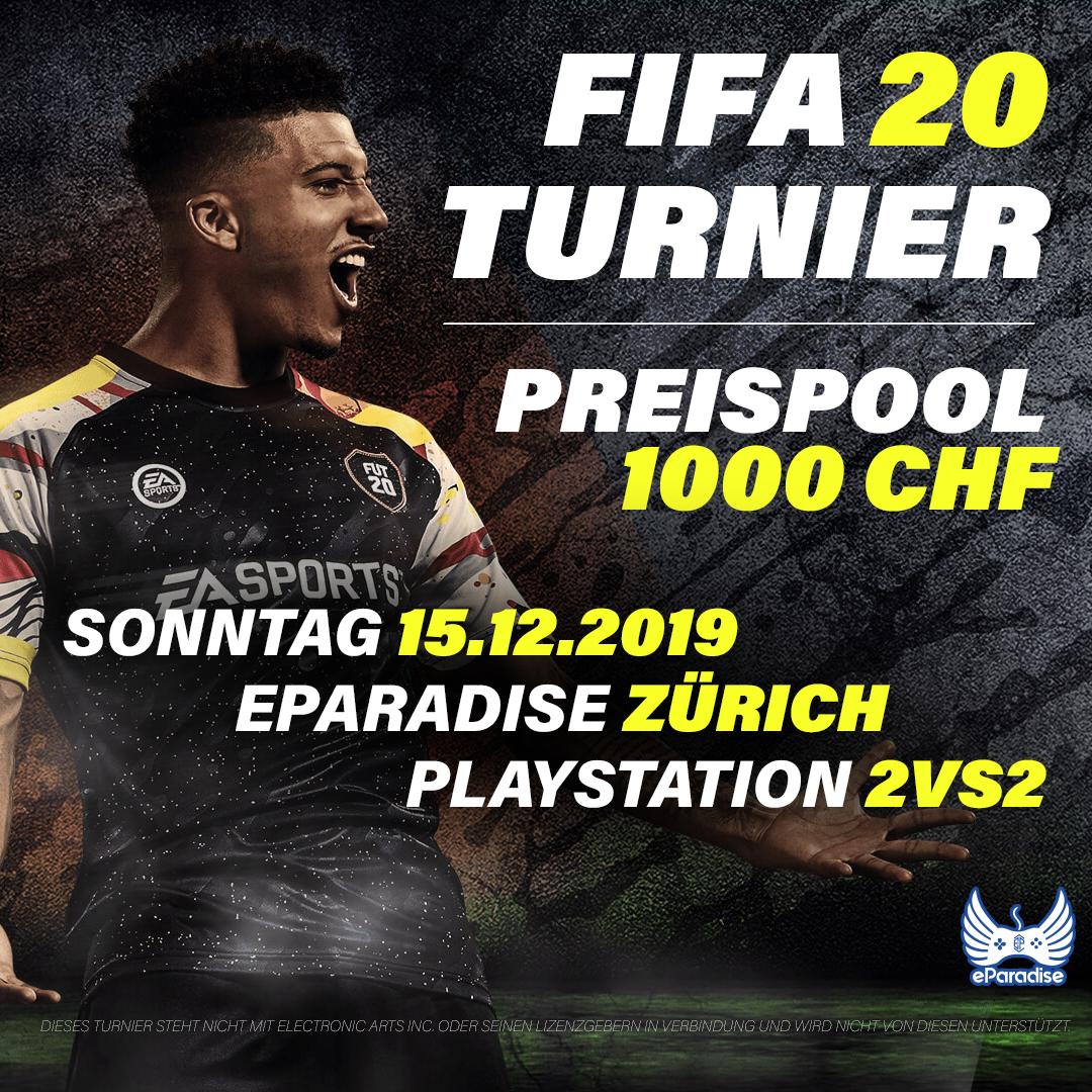 FIFA 20 Turnier - Zürich - Modus 2vs2 - 15.12.2019