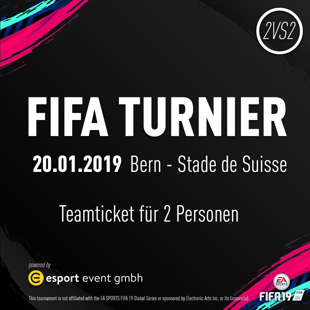 Teamticket für 2 Personen // 20.01.2019 // Bern