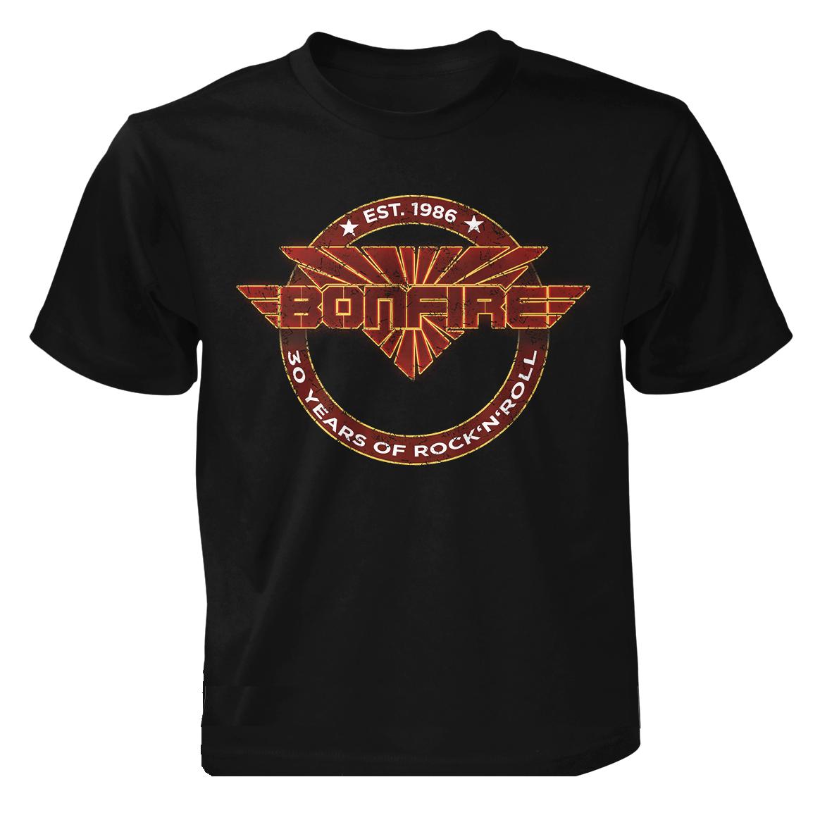 "BONFIRE - ""30 Years Of Rock'n'Roll"" - T-Shirt"