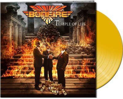 BONFIRE - Temple Of Lies - Ltd. Gtf. Yellow Vinyl