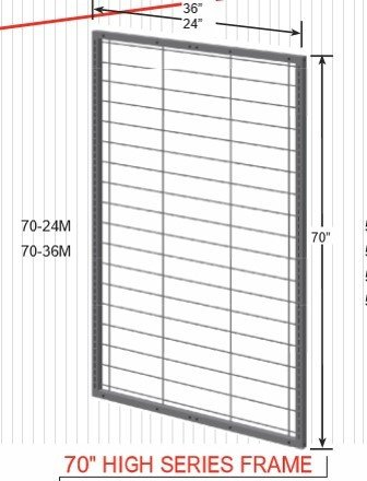 "70"" High Series Frame 70-24M 14262"