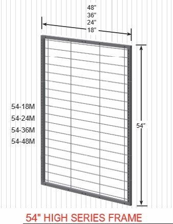 "54"" High Series Frame 54-18M 14405"