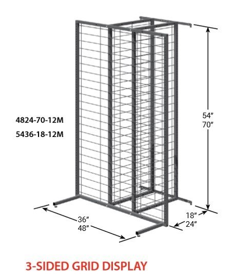 3-Sided Grid Display 14774