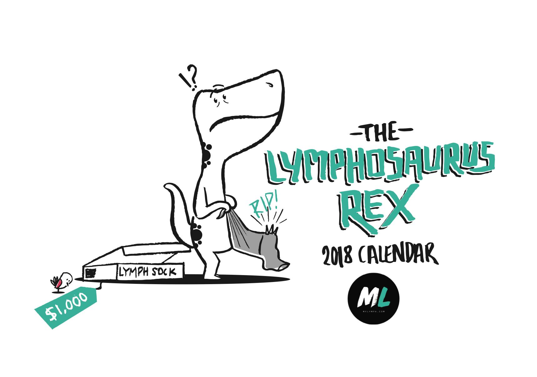 The Lymphosaurus Rex 2018 Calendar 00001