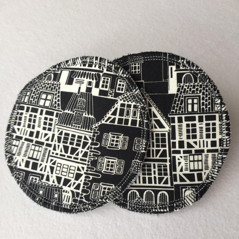 DELUXE RANGE-Breastpads-Monochrome Houses