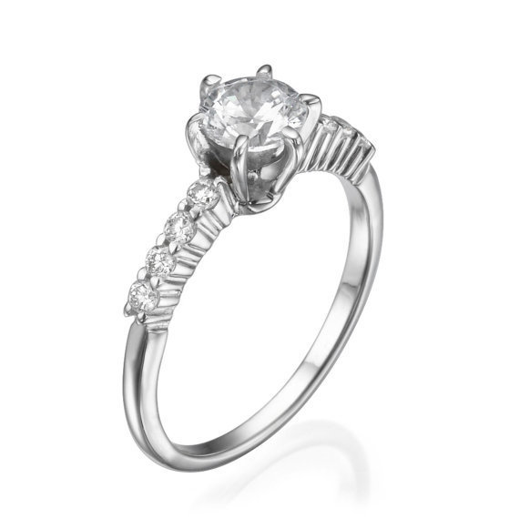No. 8 Love In Infinity Engagement Diamond Ring in Platinum - No. 8 Collection