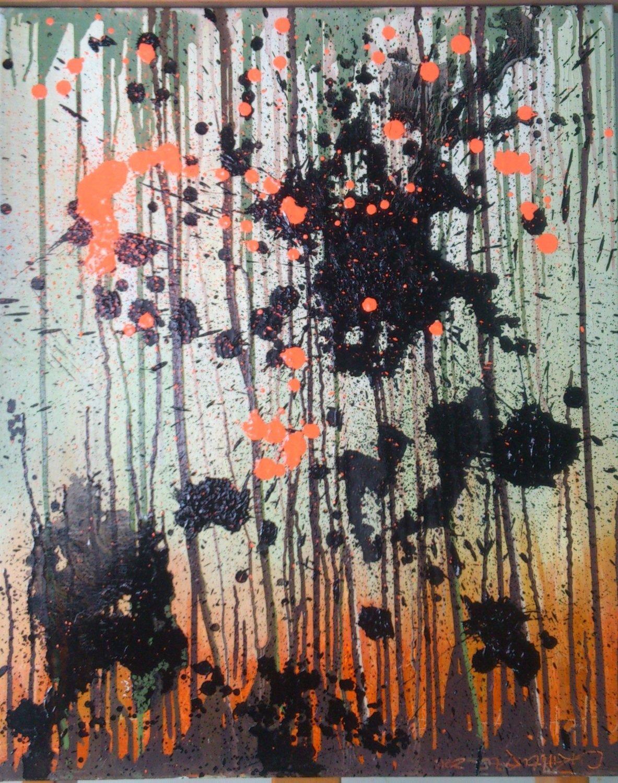 Modern Art Flow Oil Painting by Artist Yu Suchun 15F (65cmx53cm)