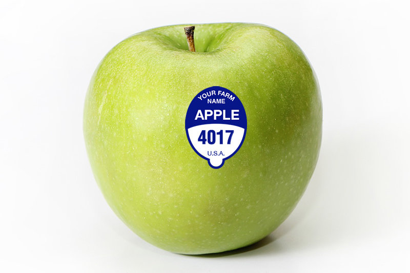 Custom Apple - FDA Food Safe PLU Sticker - 5000 Stickers