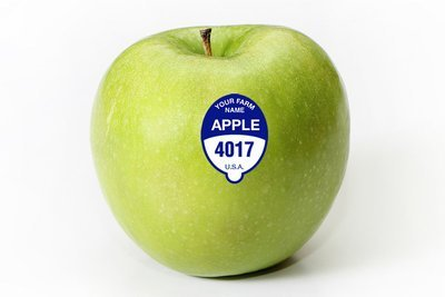Custom Apple - FDA Food Safe PLU Sticker - 5000 Stickers