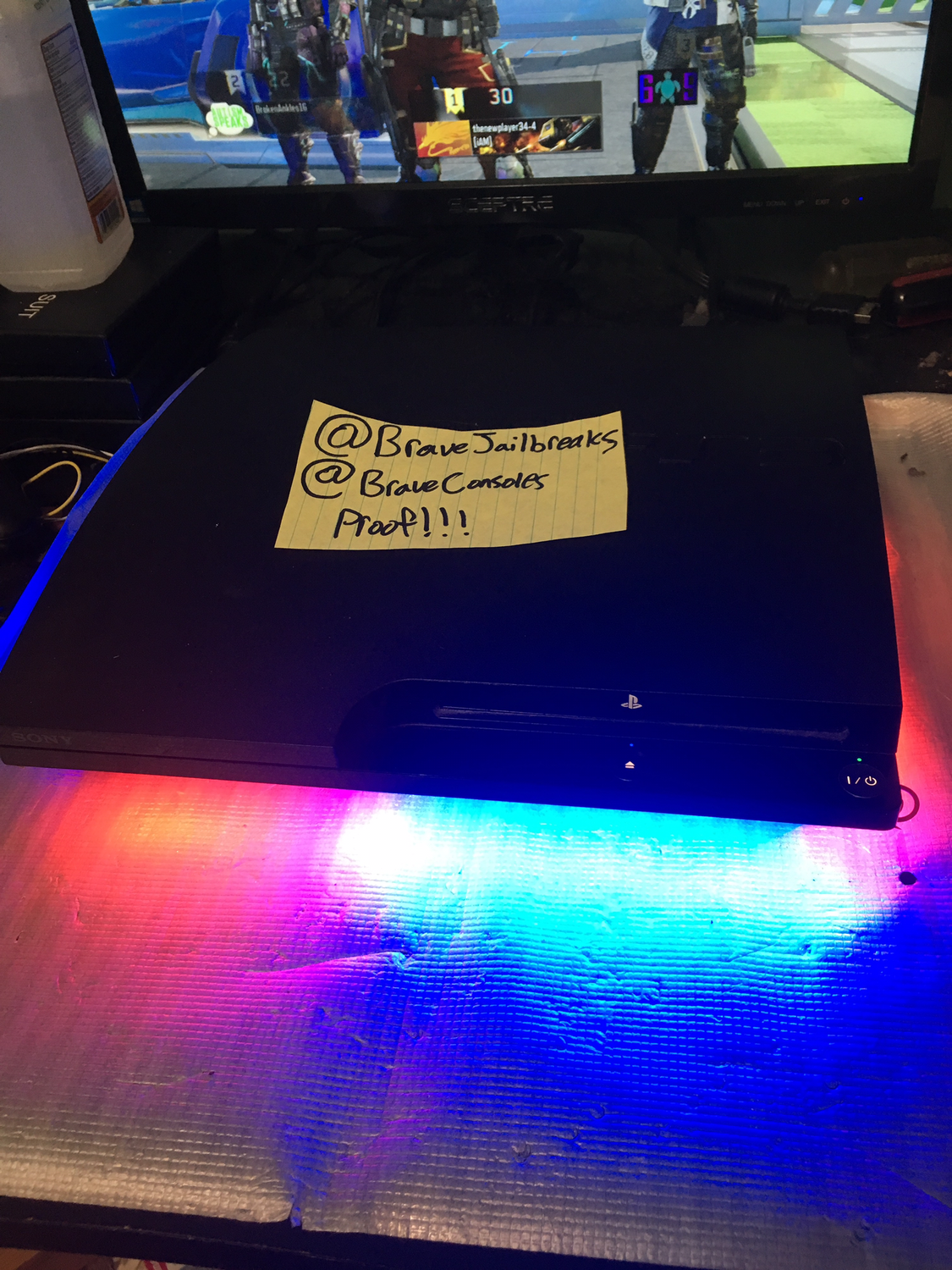 Slim ps3 with leds