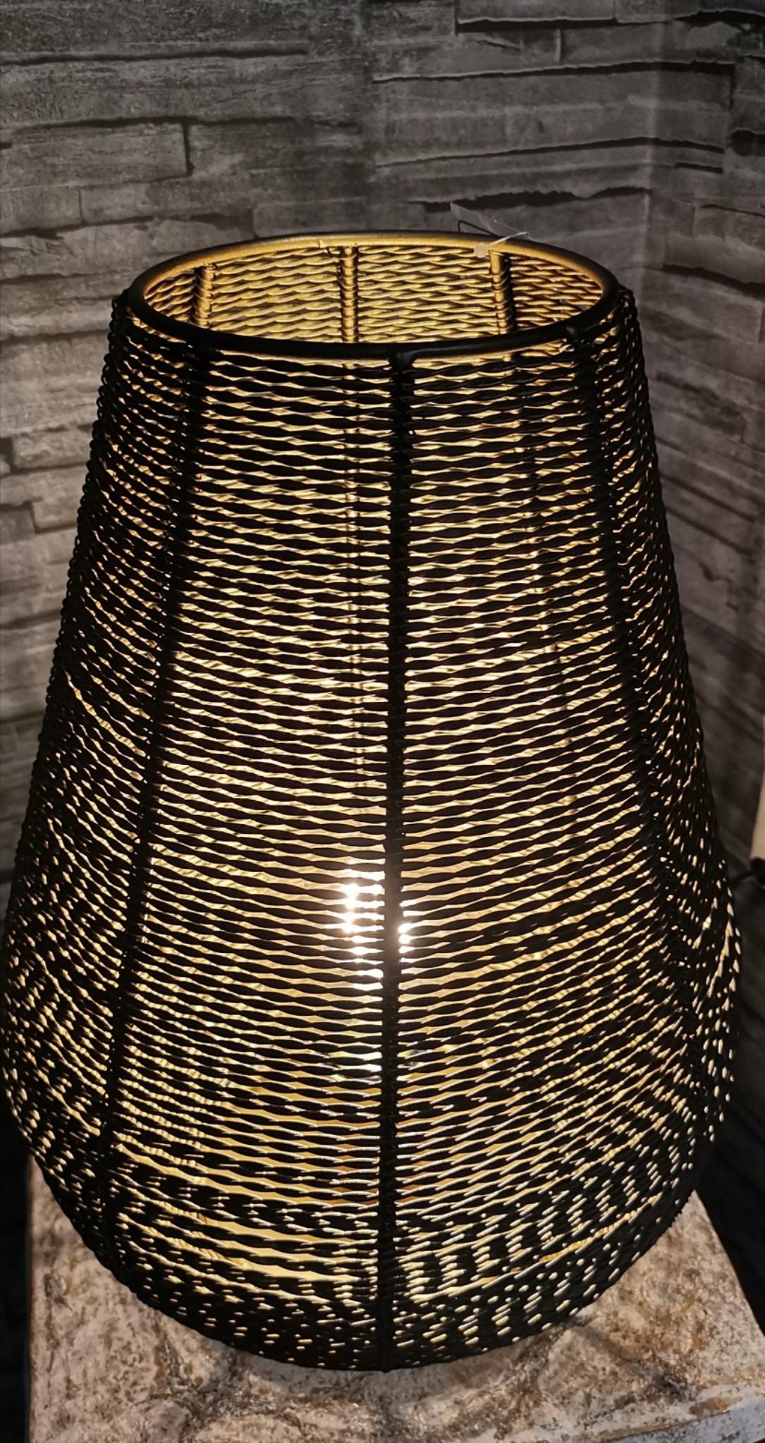 Metalen lamp zwart met goud 01798