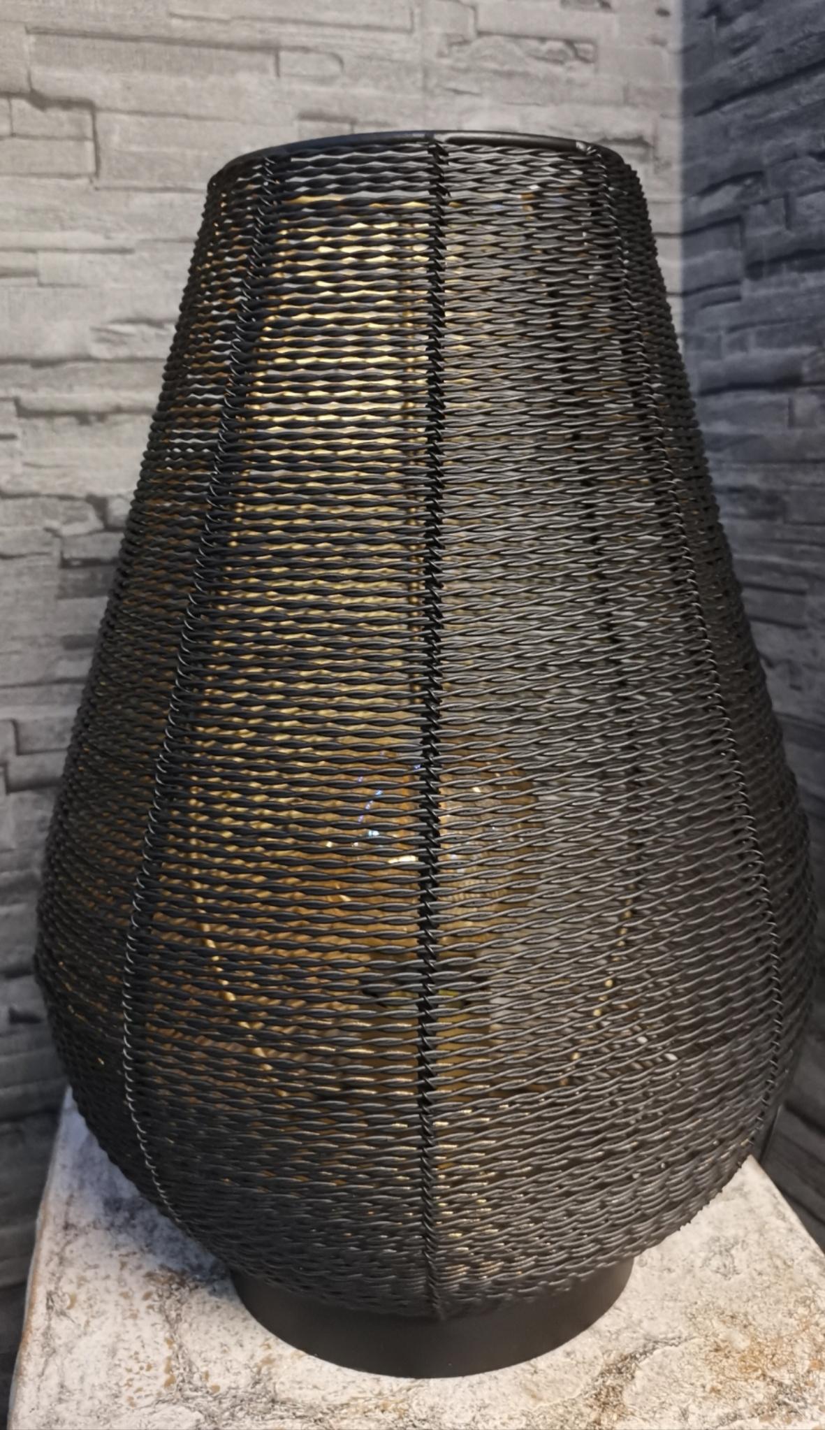 Metalen lamp zwart met goud