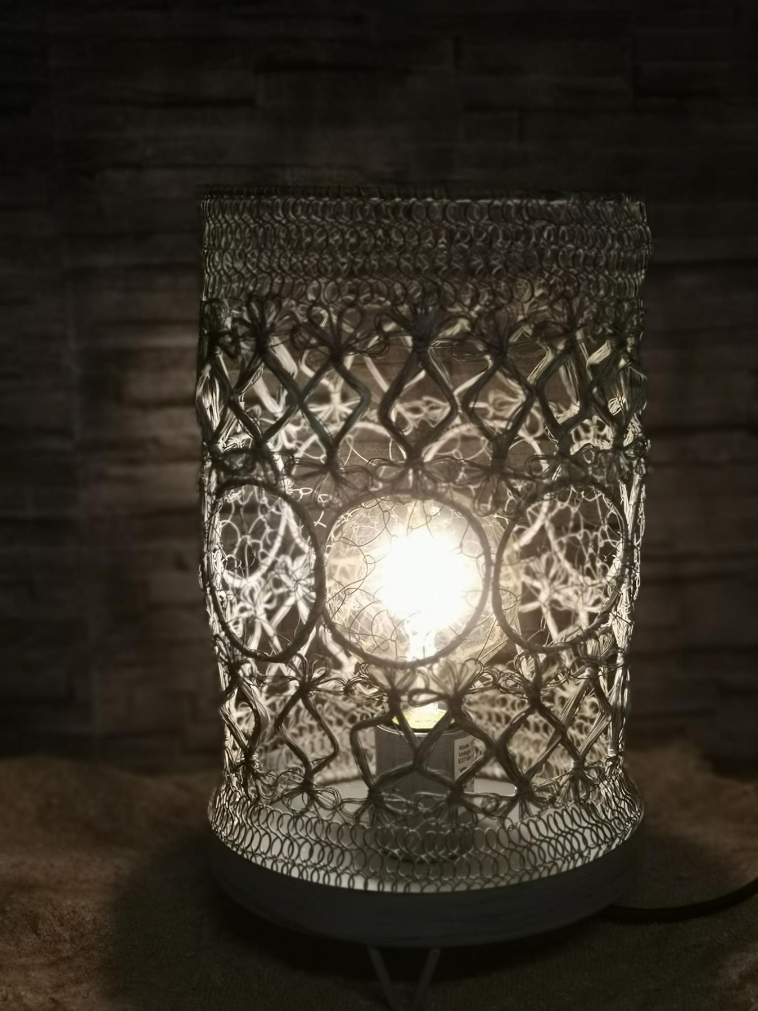 Metalen lamp flex gaas grijs 01800