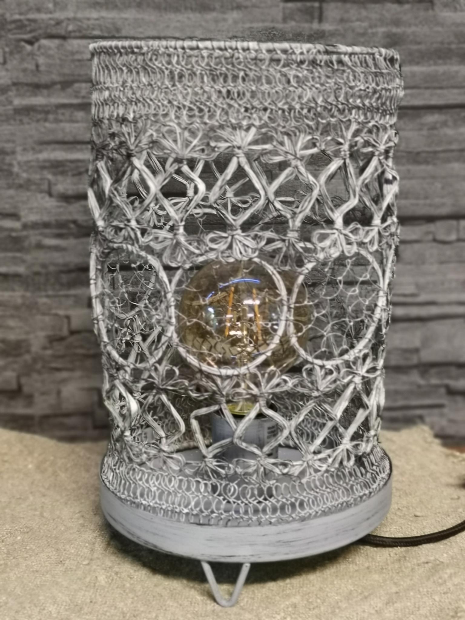 Metalen lamp flex gaas grijs