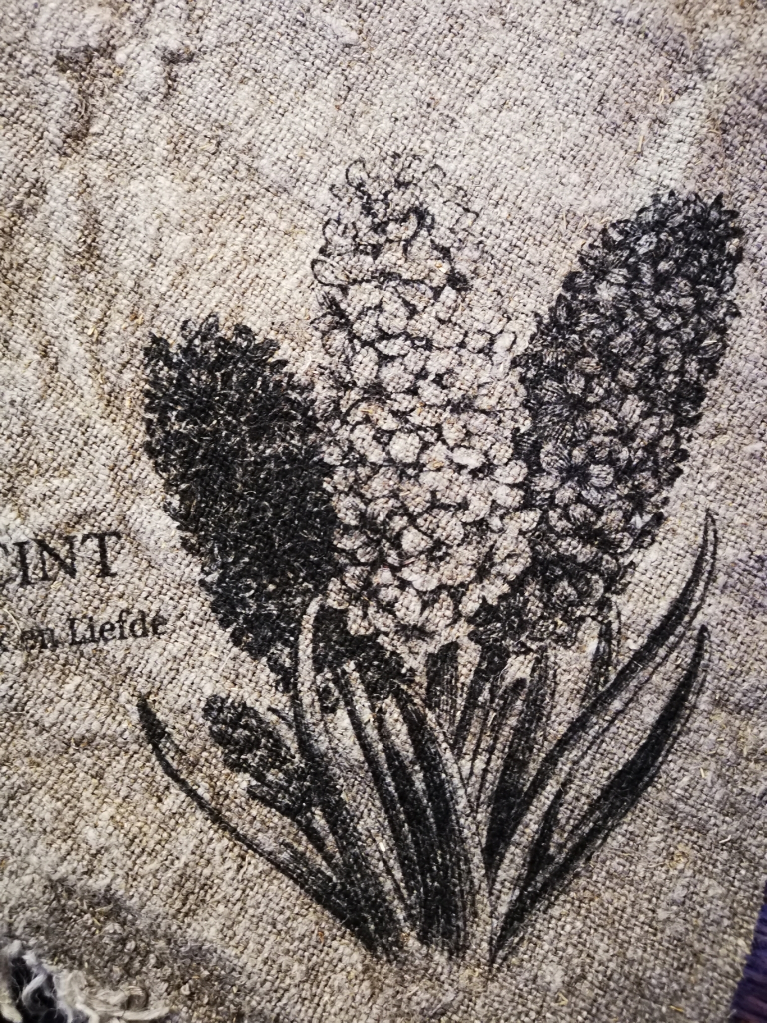 Shabby doek hyacint 30x45cm 01831