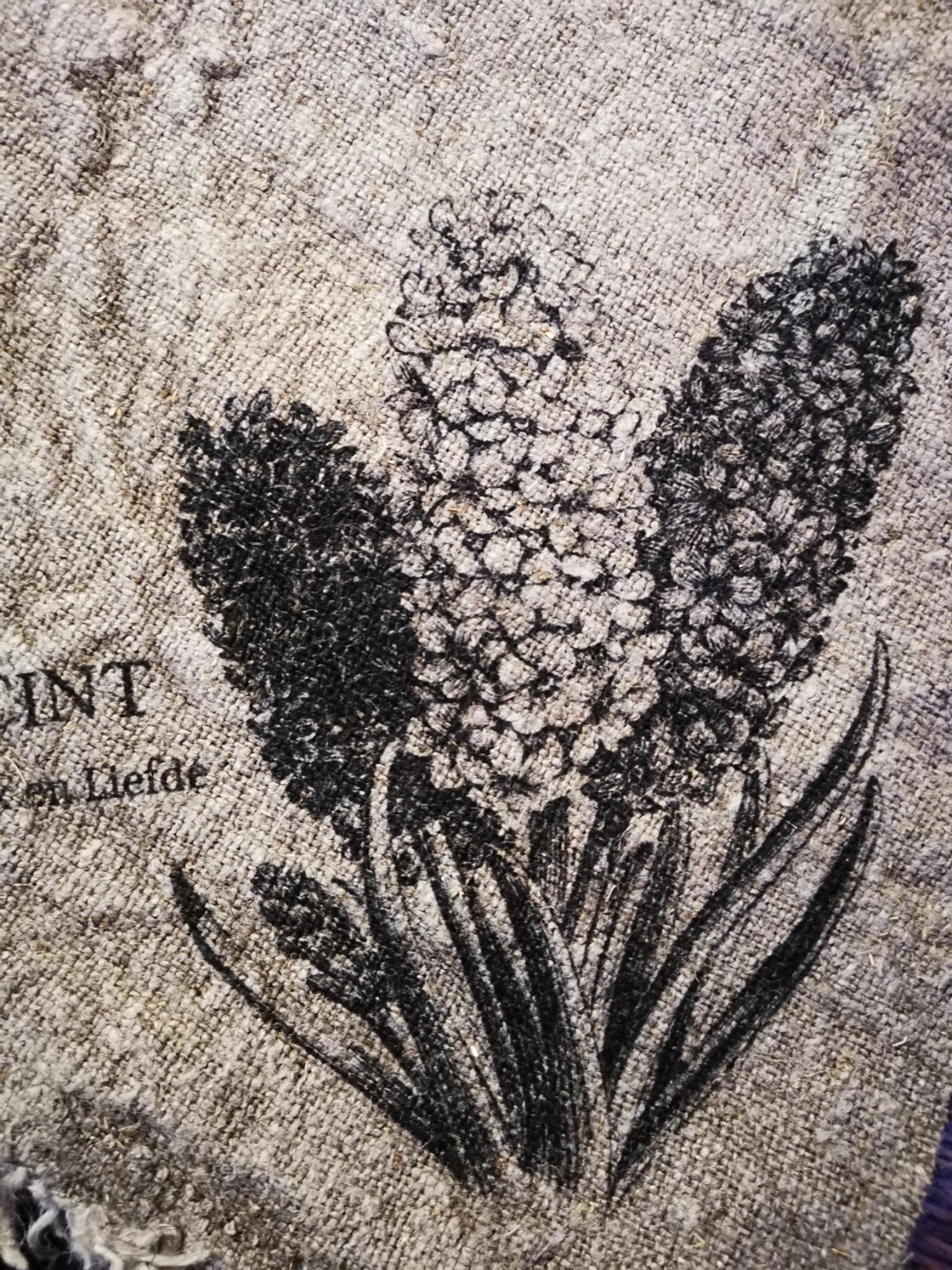 Shabby doek hyacint 45x45cm 01832