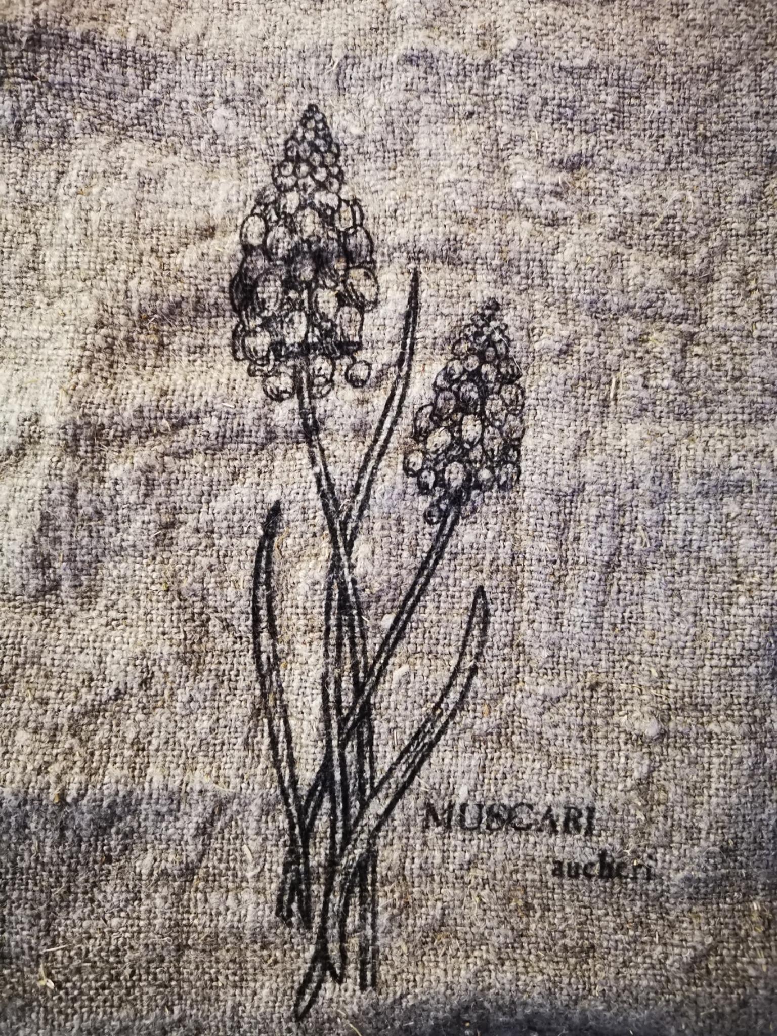 Shabby doek blauwe druif 30x45cm 01833