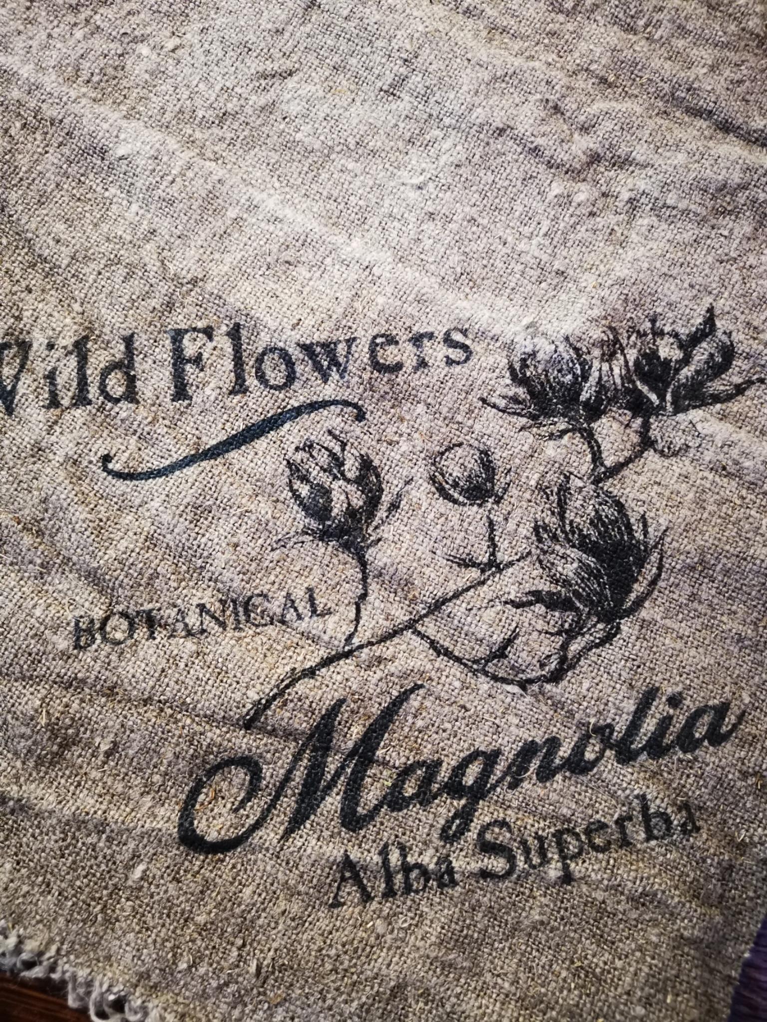 Shabby doek magnolia 30x45cm 01834