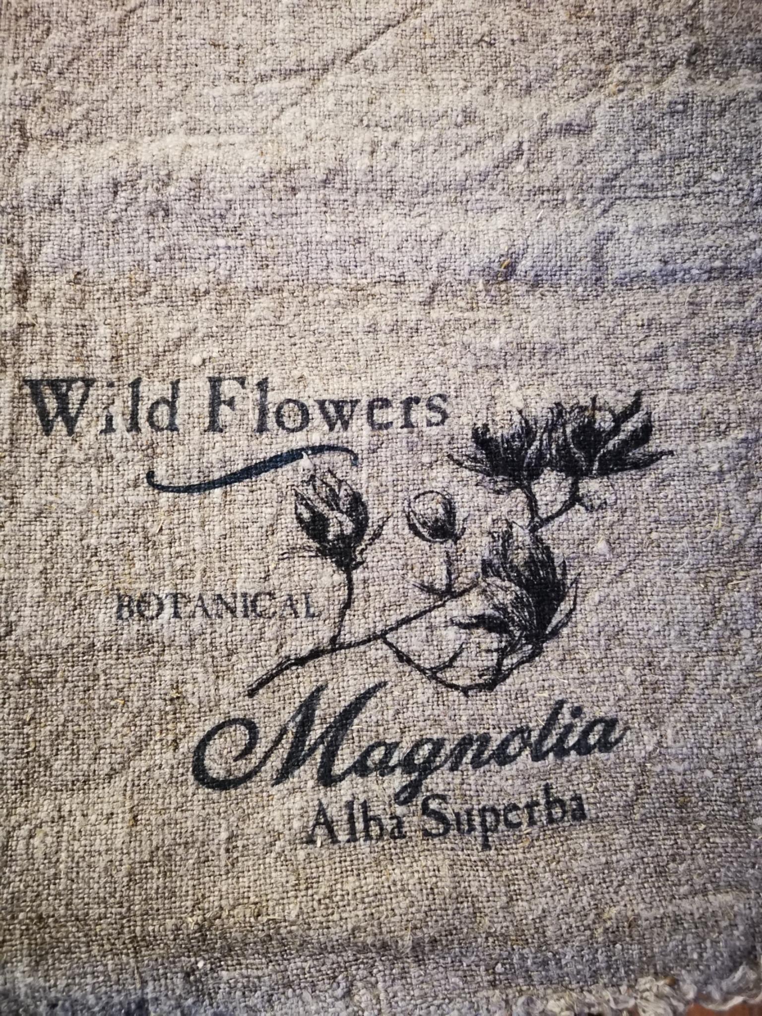 Shabby doek magnolia 45x45cm 01835