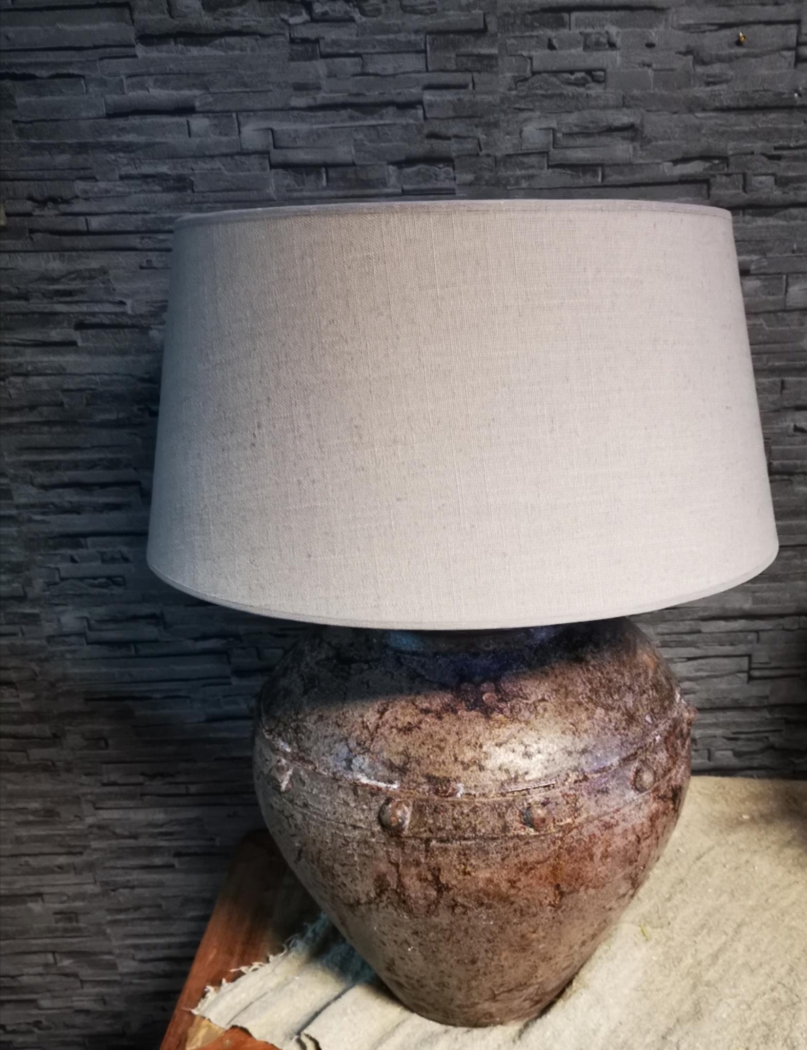 Kruik lamp incl kap 01871
