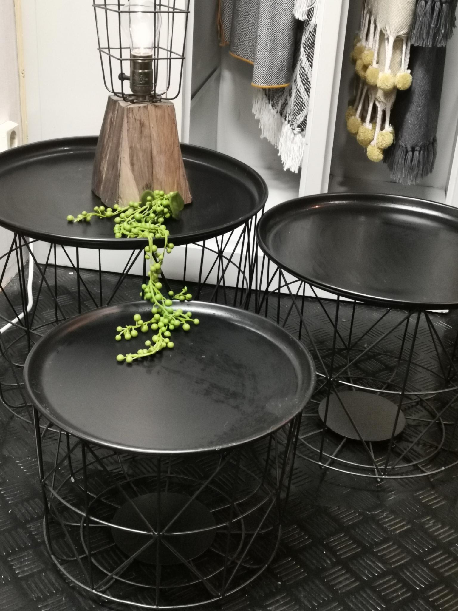 Draadmanden tafel Set van 3 01684
