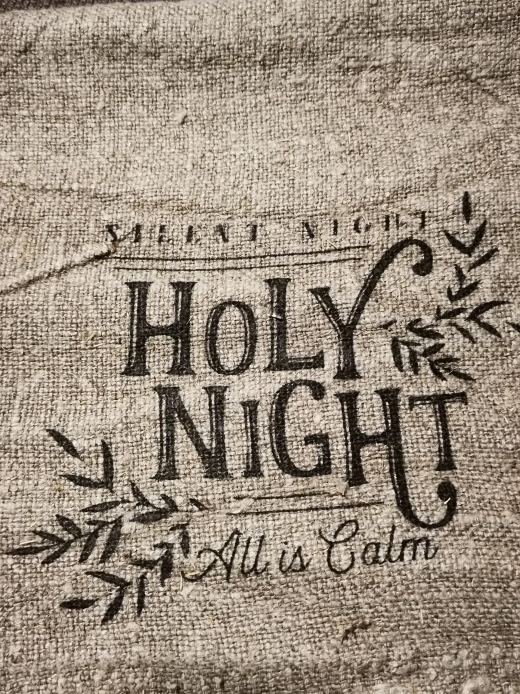 Shabby doek holy night  30x45