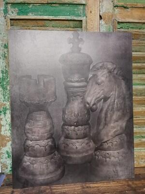 Schilderspaneel schaken