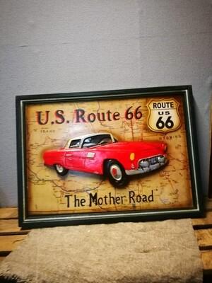 Schilderij Auto Route 66