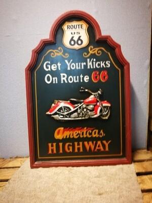 Schilderij Motor route 66