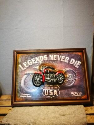 Schilderij Motor legends