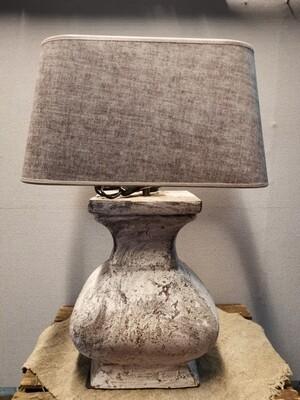 Tafellamp/ vensterbanklamp incl luxe suède kap