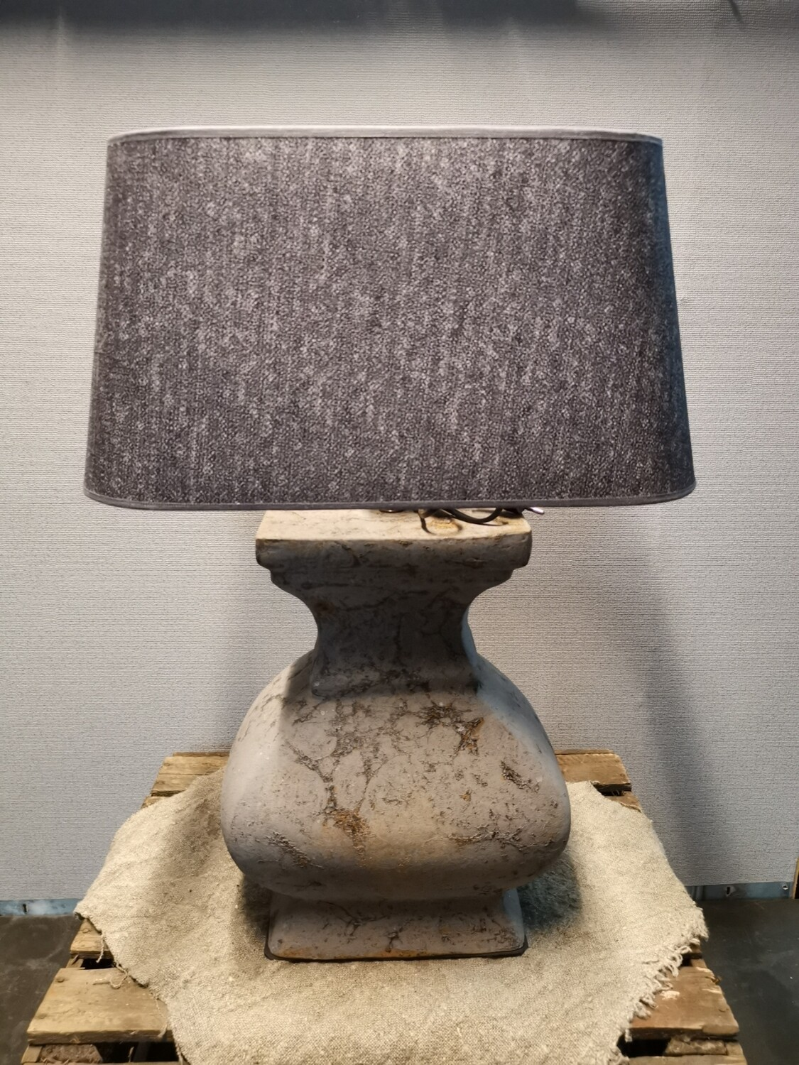 Balusterlamp incl kap