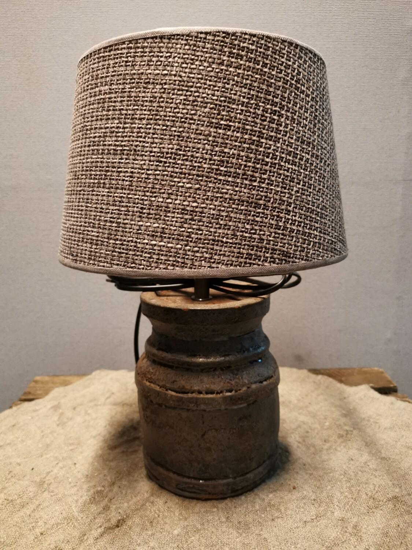 Kastlamp incl grove bruine kap