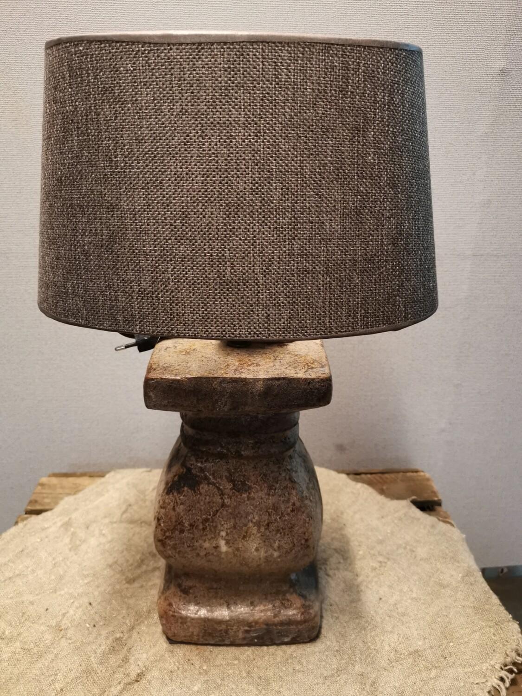 Balusterlamp choco bruin incl  bruine kap