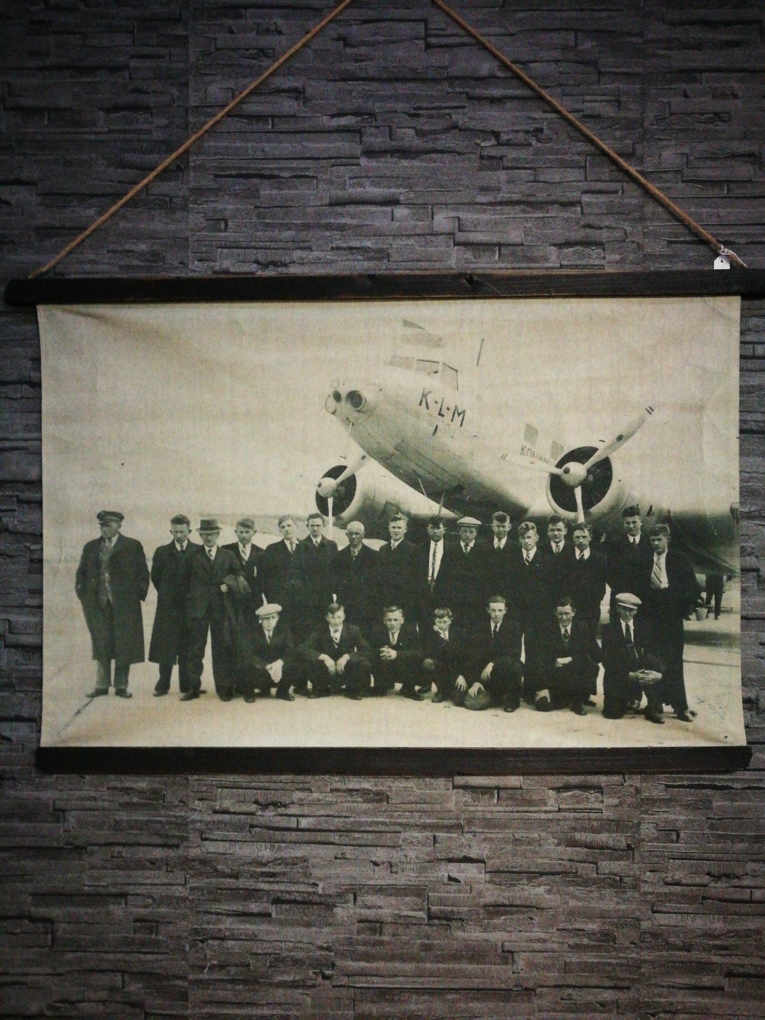 Wandkaart KLM 00043